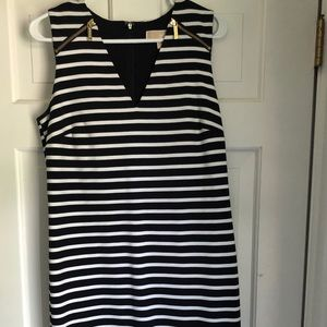 Navy/White stripe Michael Kors mini dress size M
